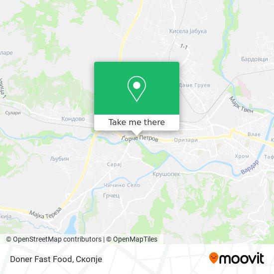 Doner Fast Food map
