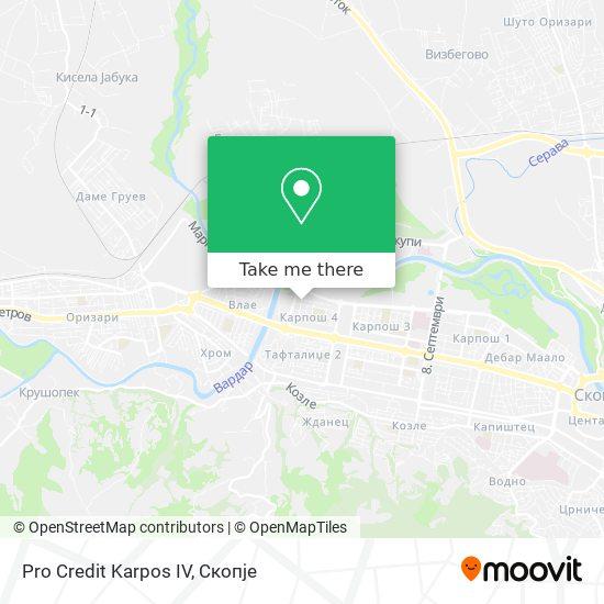 Pro Credit Karpos IV map