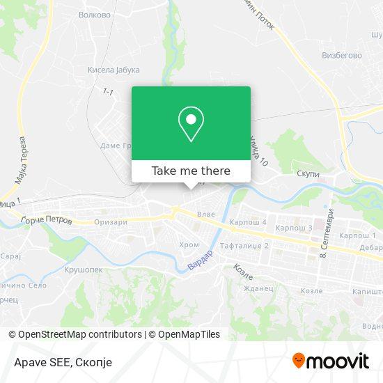 Apave SEE map