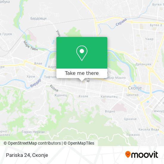 Pariska 24 map