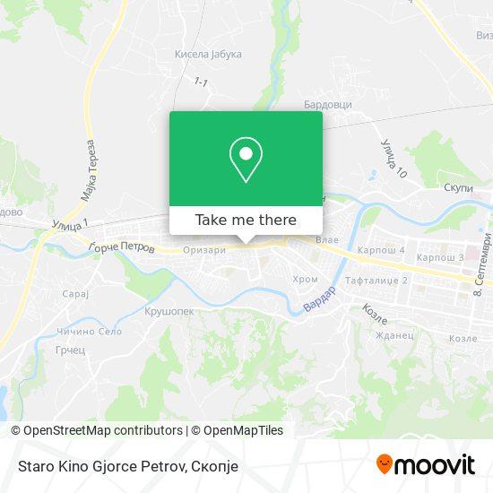 Staro Kino Gjorce Petrov map