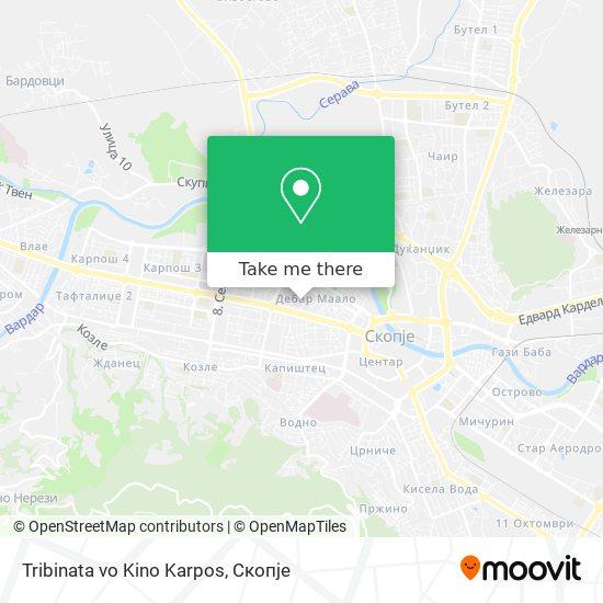 Tribinata vo Kino Karpos map