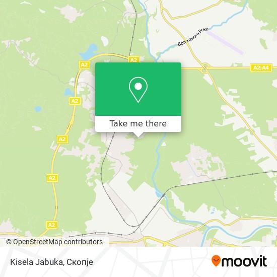 Kisela Jabuka map