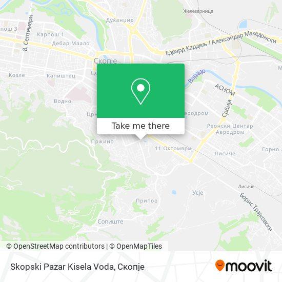 Skopski Pazar Kisela Voda map