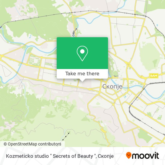 "Kozmeticko studio "" Secrets of Beauty "" map"