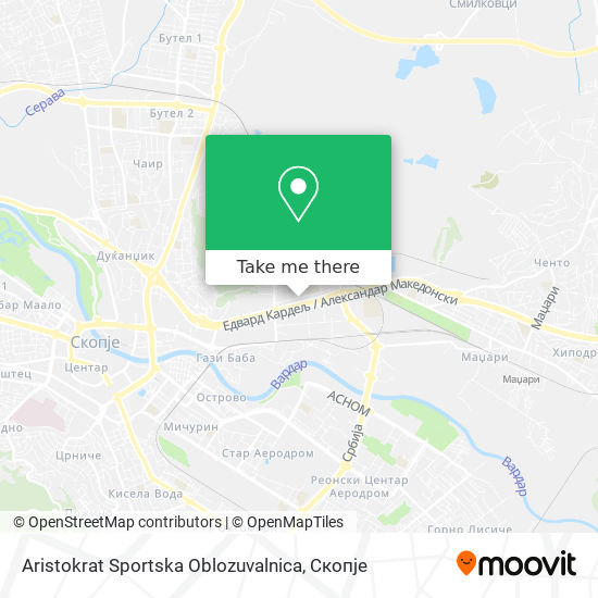 Aristokrat Sportska Oblozuvalnica map