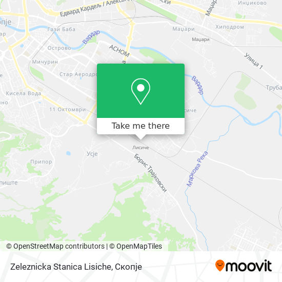 Zeleznicka Stanica Lisiche map