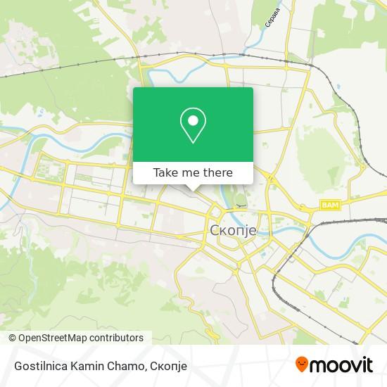 Gostilnica Kamin Chamo map