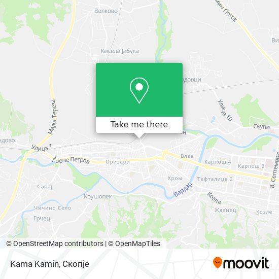 Kama Kamin map