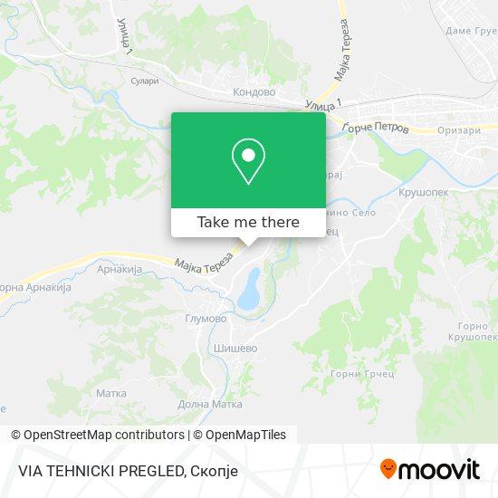 VIA TEHNICKI PREGLED map