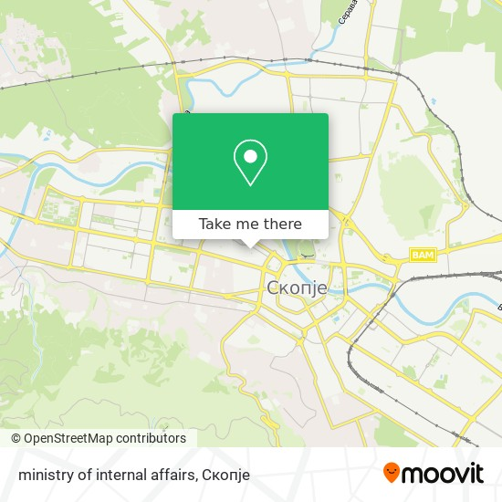 ministry of internal affairs map