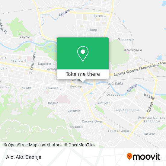 Alo, Alo map