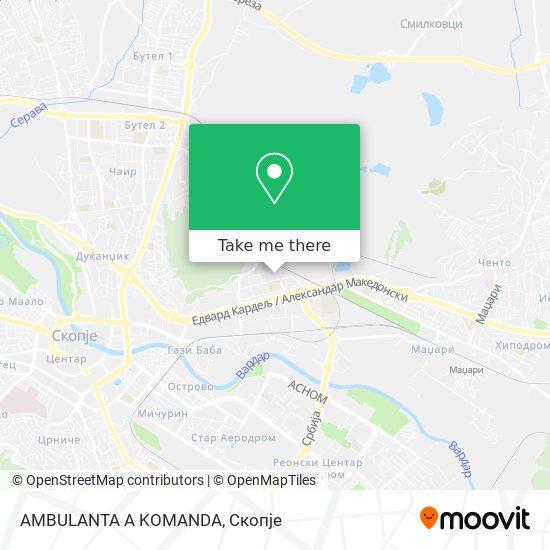 AMBULANTA A KOMANDA map
