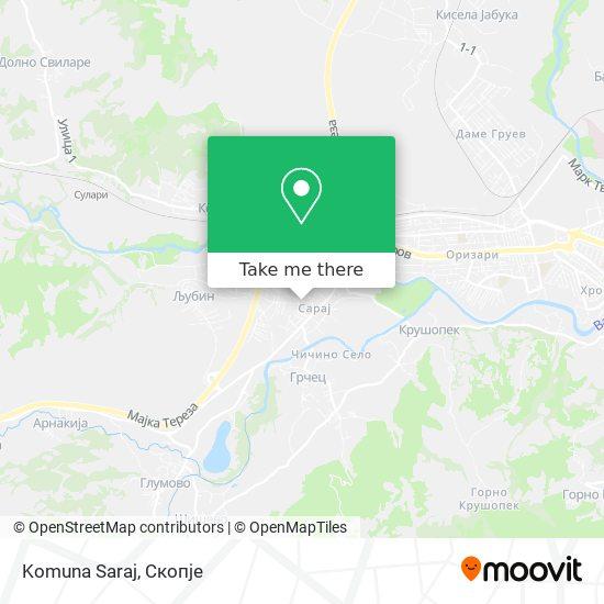 Komuna Saraj map