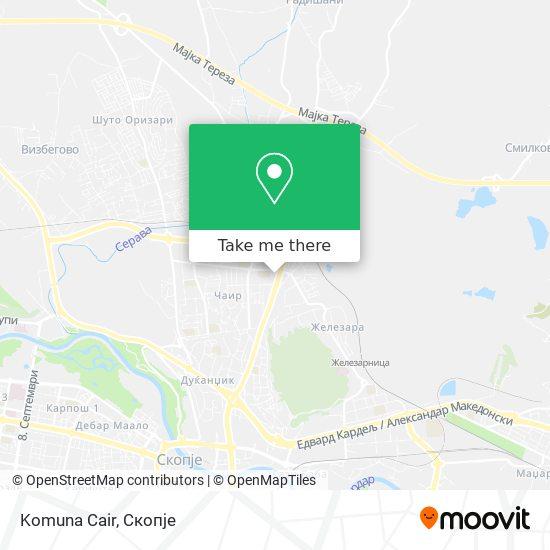 Komuna Cair map