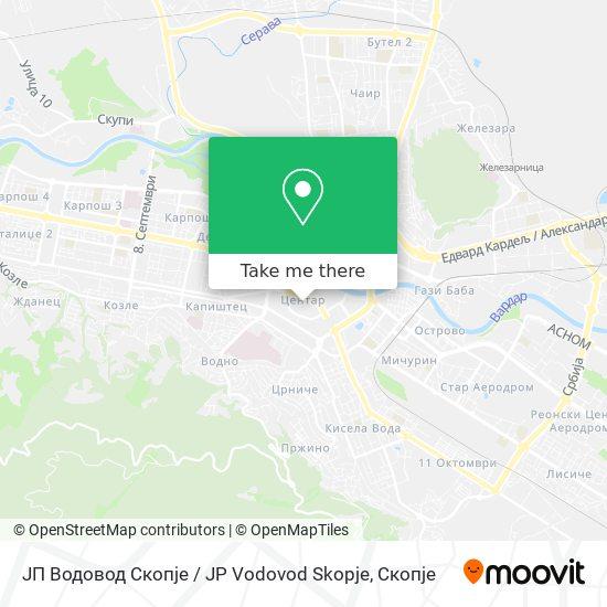ЈП Водовод Скопје / JP Vodovod Skopje map