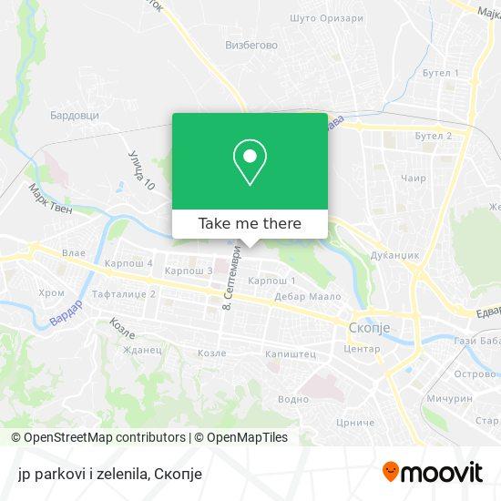 jp parkovi i zelenila map