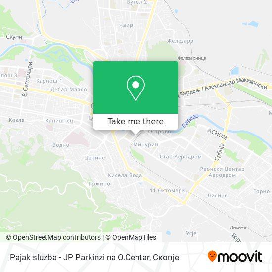 Pajak sluzba - JP Parkinzi na O.Centar map