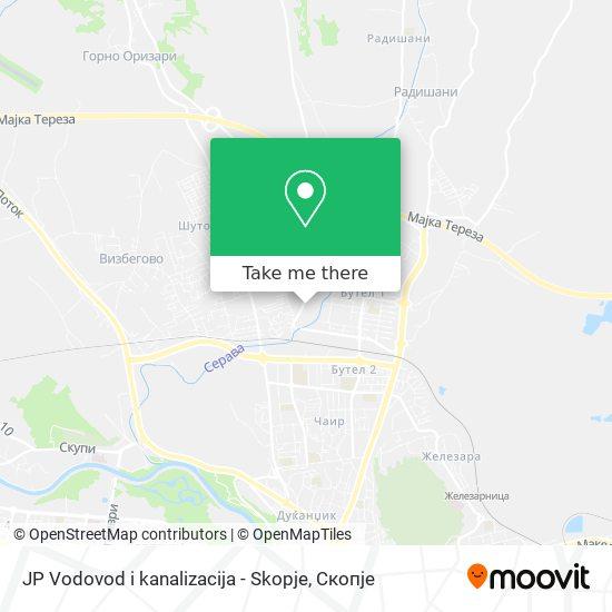 JP Vodovod i kanalizacija - Skopje map