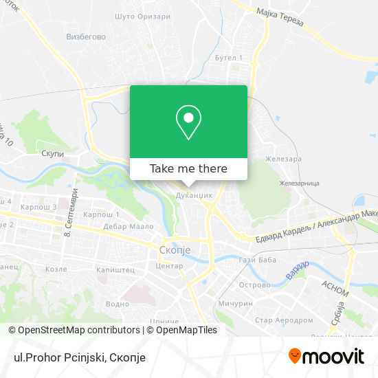 ul.Prohor Pcinjski map