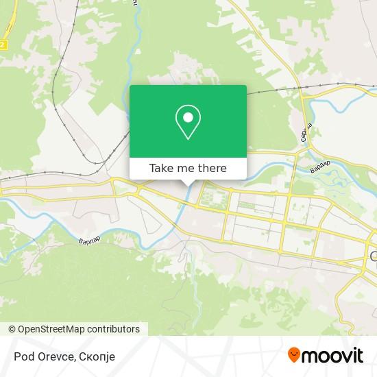 Pod Orevce map