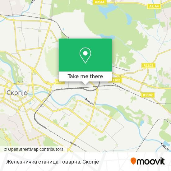 Железничка станица товарна map