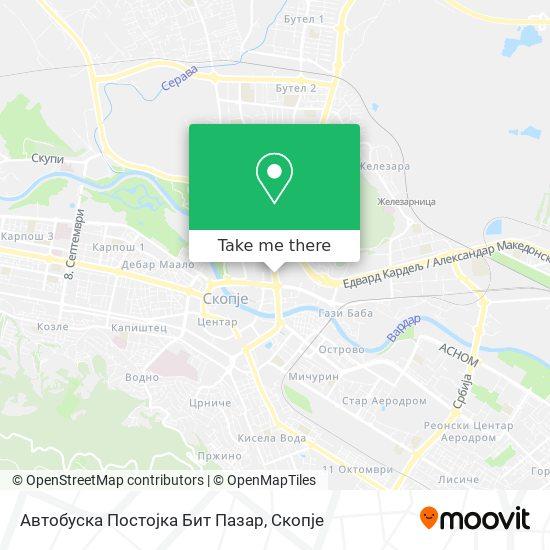 Автобуска Постојка Бит Пазар map