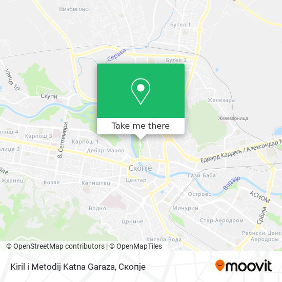 Kiril i Metodij Katna Garaza map