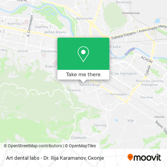 Art dental labs - Dr. Ilija Karamanov map