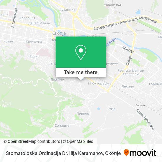 Stomatoloska Ordinacija Dr. Ilija Karamanov map