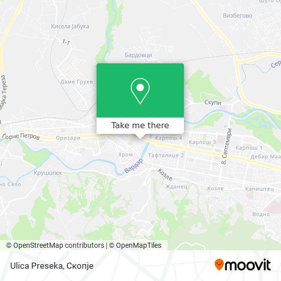 Ulica Preseka map