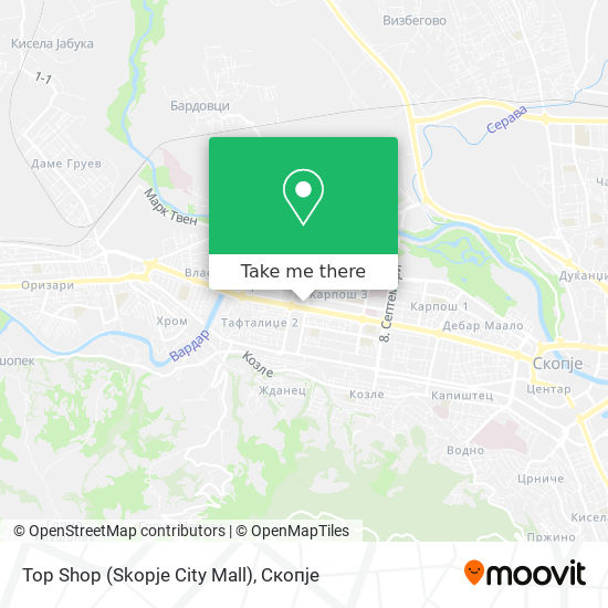 Top Shop (Skopje City Mall) map