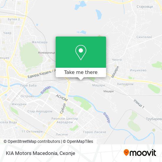 KIA Motors Macedonia map