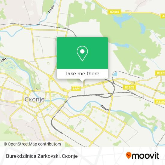 Burekdzilnica Zarkovski map