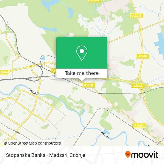 Stopanska Banka - Madzari map