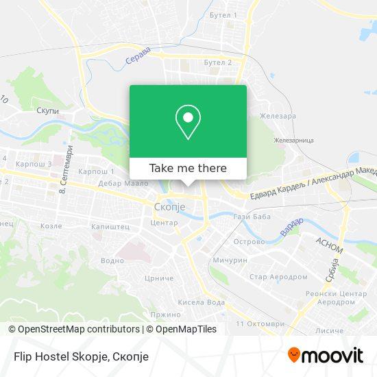 Flip Hostel Skopje map