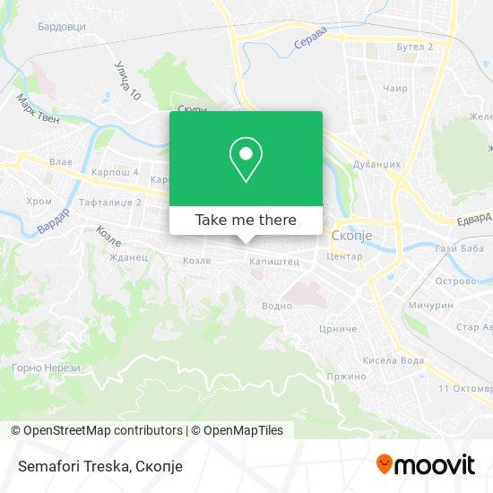 Semafori Treska map