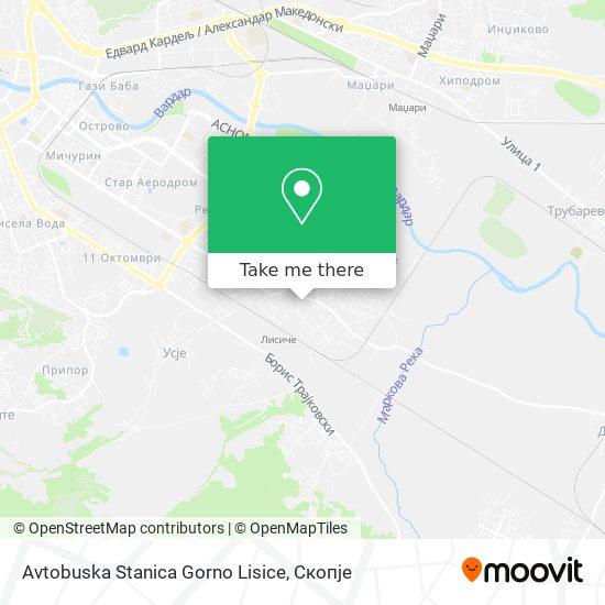 Avtobuska Stanica Gorno Lisice map