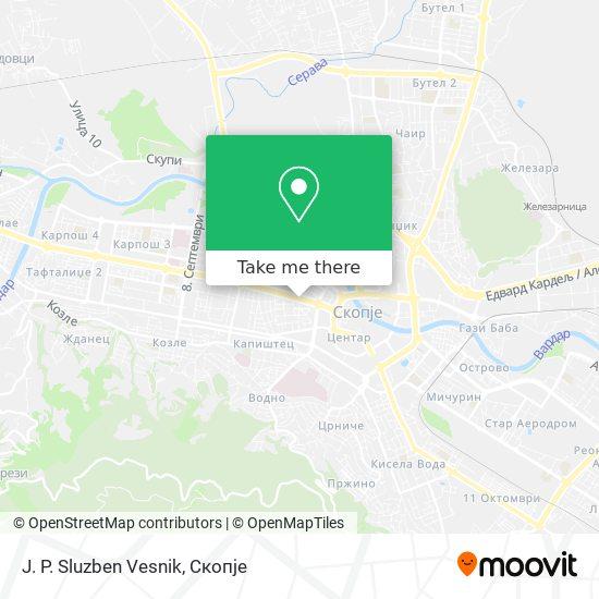 J. P. Sluzben Vesnik map