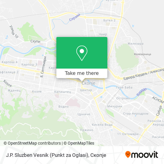 J.P. Sluzben Vesnik (Punkt za Oglasi) map
