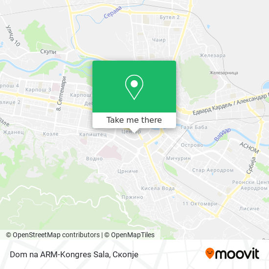 Dom na ARM-Kongres Sala map