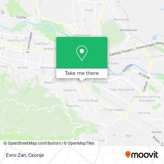 Evro-Zan map
