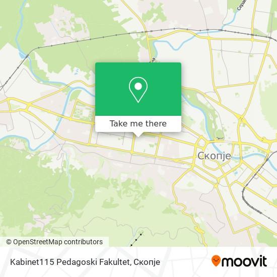 Kabinet115 Pedagoski Fakultet map