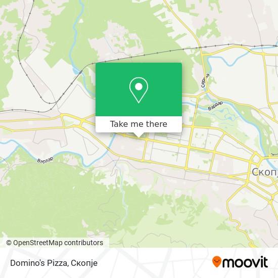 Domino's Pizza map