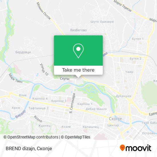 BREND dizajn map