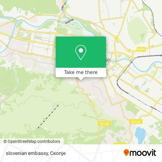 slovenian embassy map