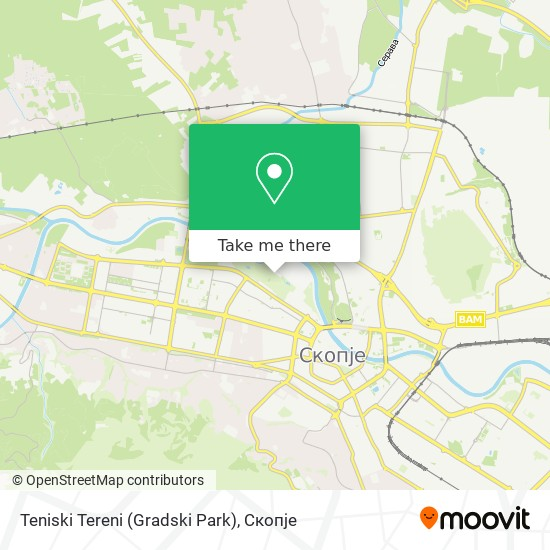 Teniski Tereni (Gradski Park) map