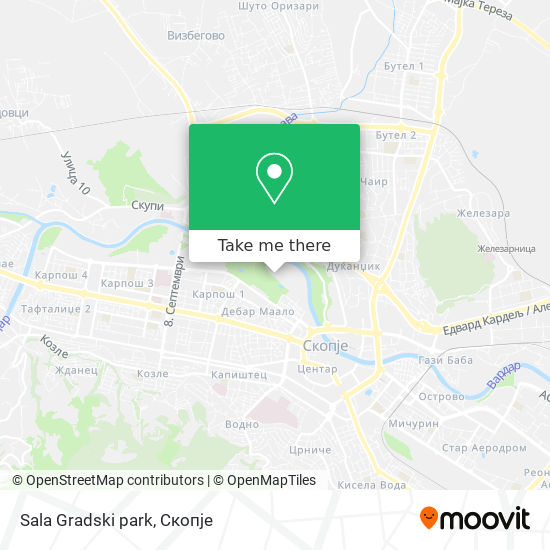 Sala Gradski park map