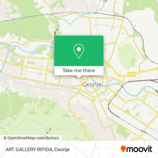 ART GALLERY  RIPIDA map