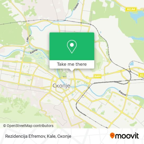 Rezidencija Efremov, Kale map